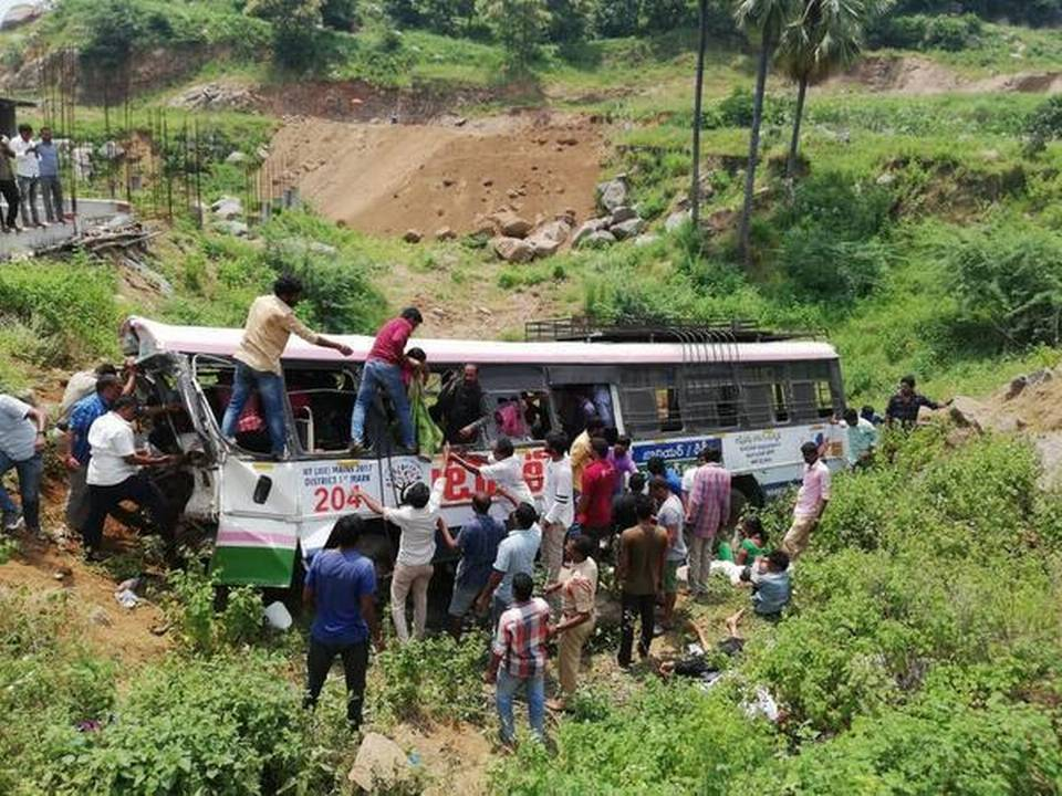 40 Including Six Children Dead After Bus Falls Into Valley In Telangana
