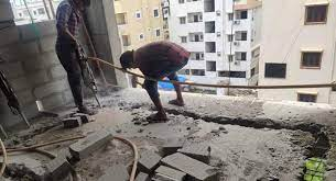 Special Task Force demolished unauthorised structures in LB Nagar zone