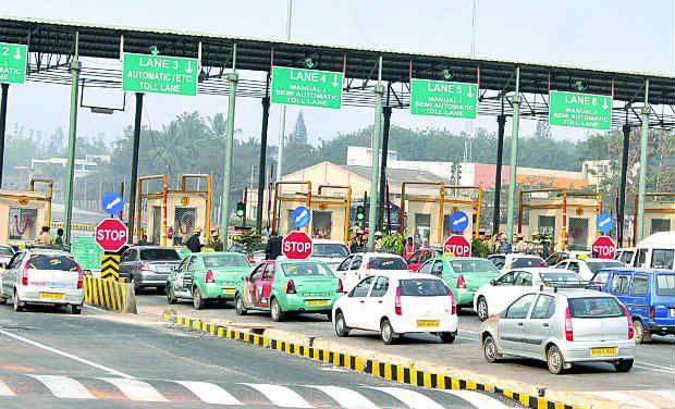 Heavy traffic jams at toll gates on Vijayawada Highway
