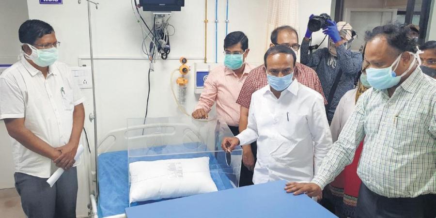 Eatala Rajender visits Gandhi Hospital on Monday