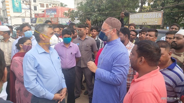 The five member-team reaches Hyderabad to assess property damage