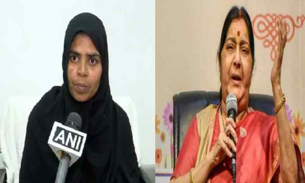 Hyderabad woman rescued from Oman after 5 months, thanks Sushma Swaraj