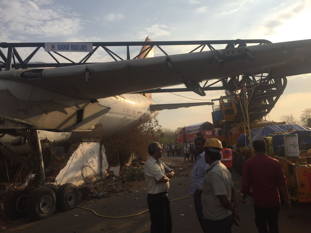 A-320 AIRCRAFT FALLS ON ROAD IN BEGUMPET