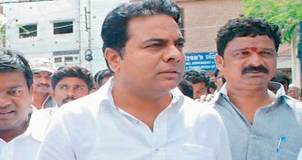 KTR  carried out  surprise inspection of roads in Hyderabad