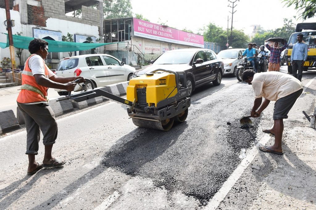 GHMC takes up road repair works in some areas of the city
