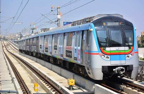 Metro trial run begins on the Ameerpet to Hi-Tech City route
