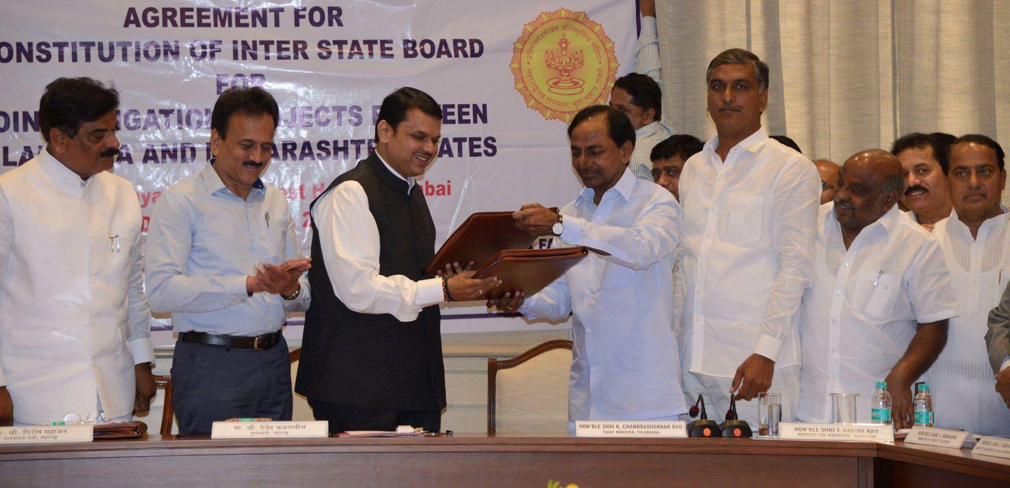 Telangana, Maharashtra ink historic irrigation pact