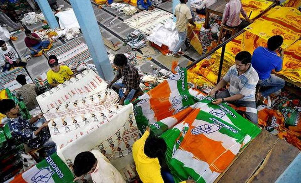 Flag bearers of poll campaign