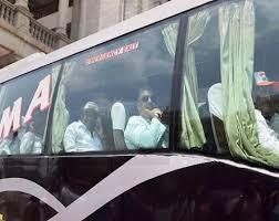 Karnataka Congress, JD(S) MLAs reach Hyderabad