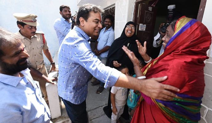 KTR launches the 10-day Pattana Pragathi programme in Mahabubnagar