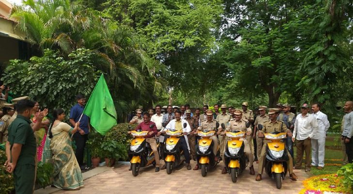 Nehru zoo gets 5 e-scooters for staff