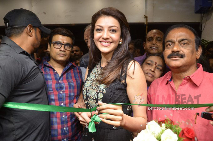 Kajal Aggarwal inaugurates Bahar Cafe