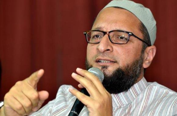 Asaduddin Owaisi ending his speech with