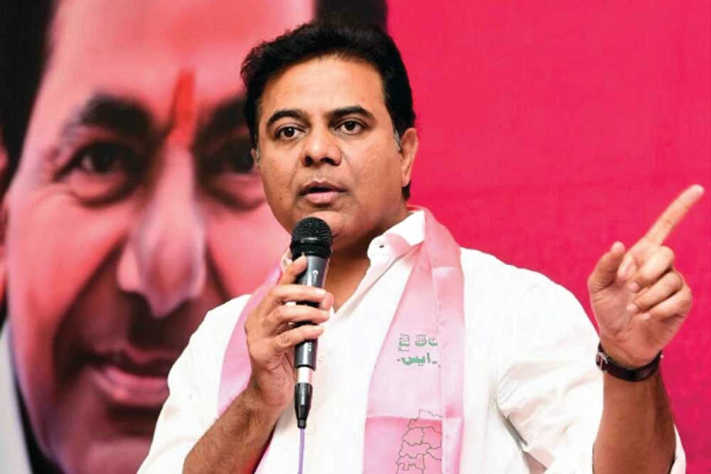 K T Rama Rao  leads by over 15,000 votes