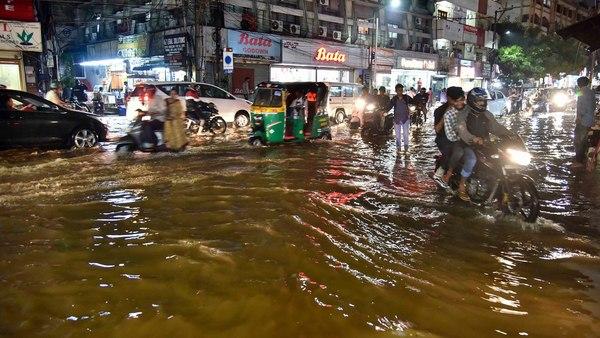 Heavy rains pounded Hyderabad