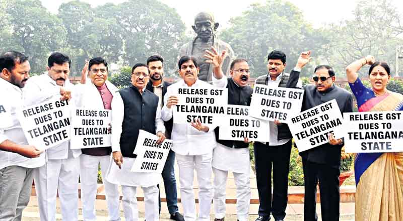 TRS MPs demand release of GST dues