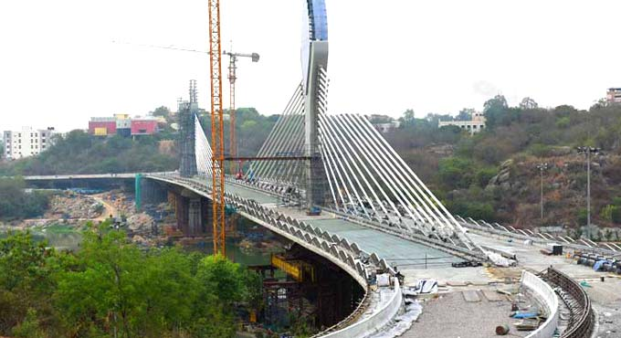 Durgam Cheruvu cable bridge to be inaugurated today