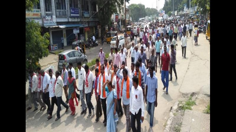 Over 5,000 TSRTC workers taken in preventive custody after strike in Hyderabad