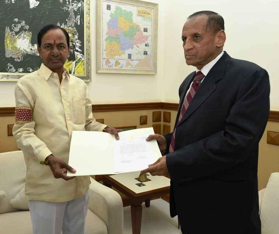 KCR asked to continue as caretaker CM