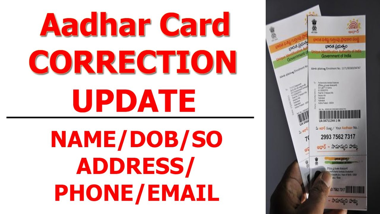 Aadhaar corrections at Post Offices