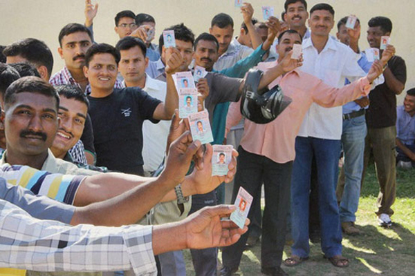 45 percent polling recorded in GHMC polls