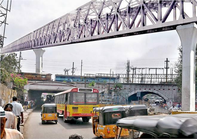 Traffic restrictions under Oliphant railway bridge at Secunderabad