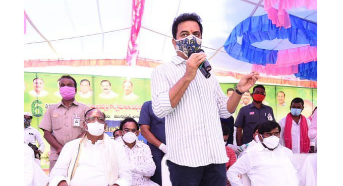 KTR assures that Brahmanavellemla Project would be completed soon