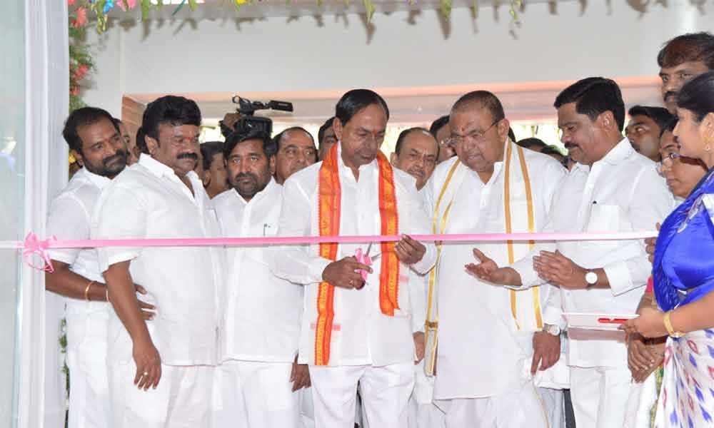 KCR inaugurates modern residential quarters for MLAs