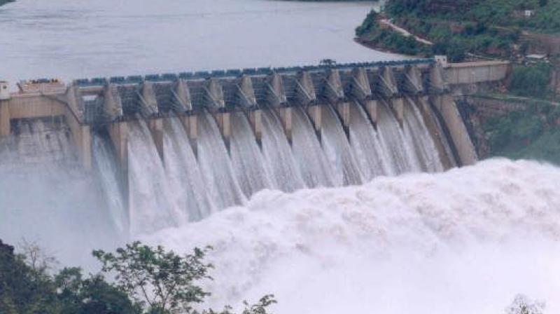 AP releases 4523 cusecs from Srisailam