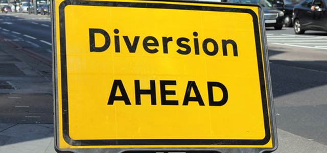 Traffic diversion for one month