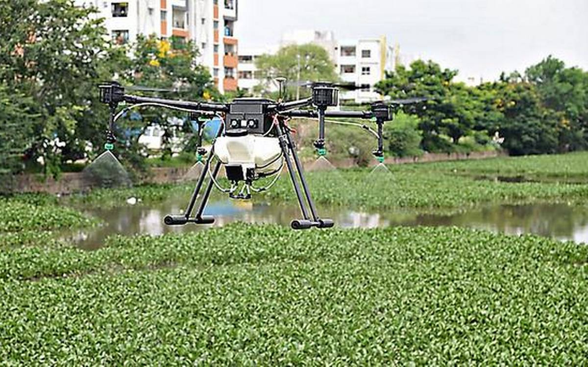 GHMC deploys drones for anti-larval operations