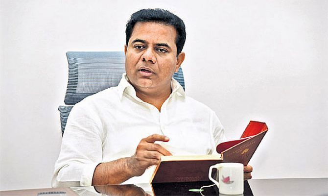 KTR dares BJP, Congress to field candidates from all wards