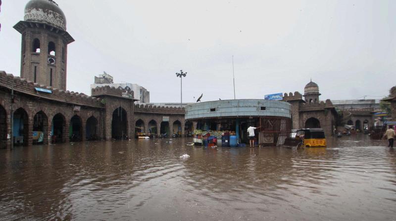 Rains continue to lash Hyderabad and parts of Telangana..