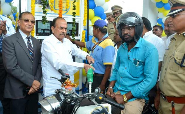 hmmohdmahmoodaliinauguratesapetrolbunkinsangareddy