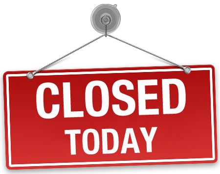 Meat shops shut today