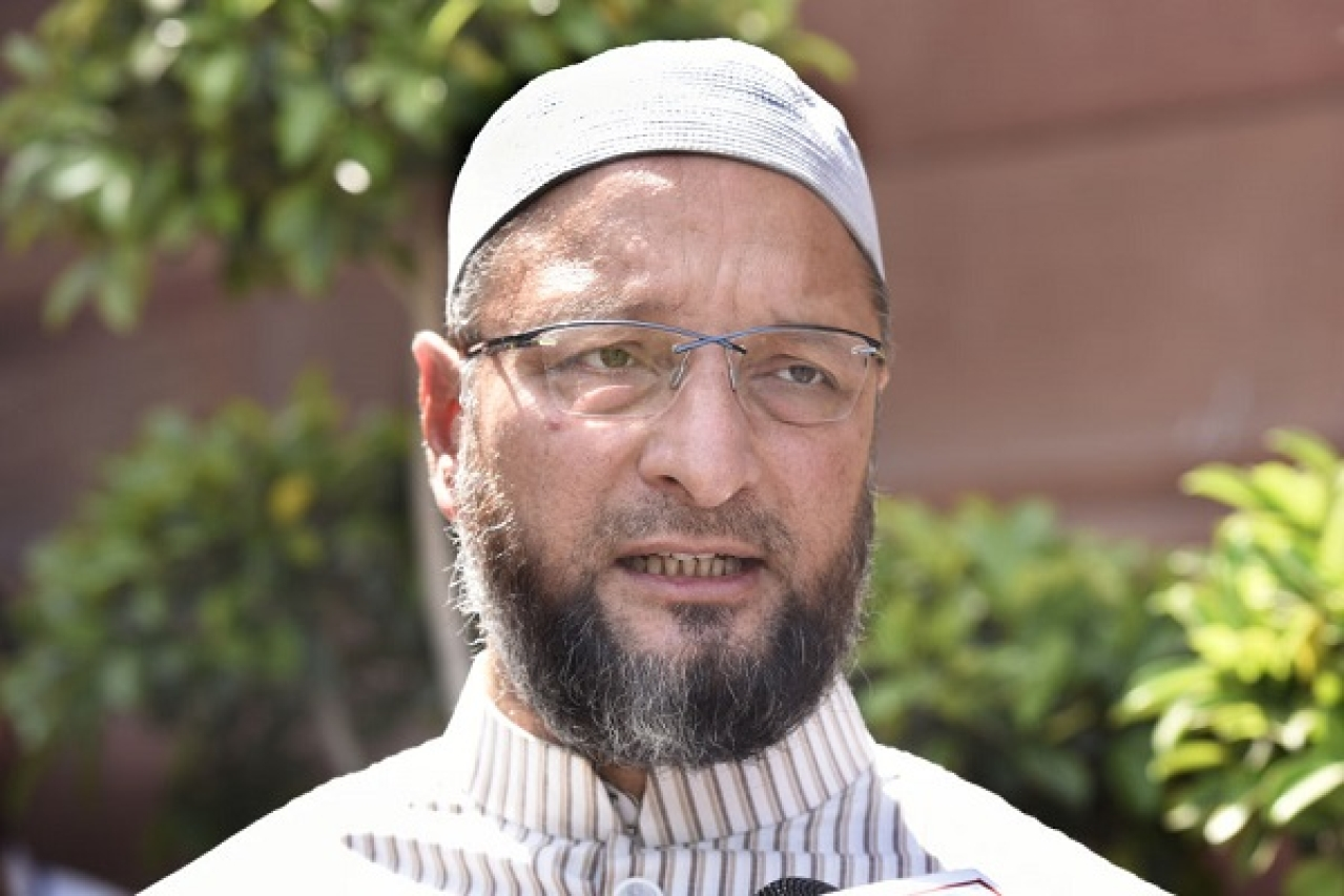 Asaduddin Owaisi, officials inspects developmental works