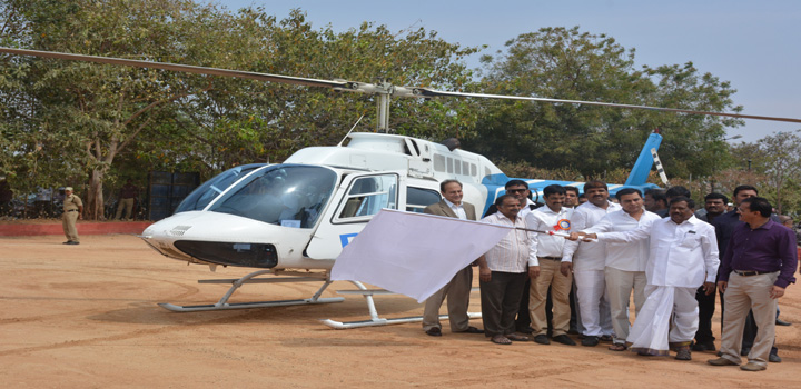 Helicopter joy rides inaugurated in Hyderabad