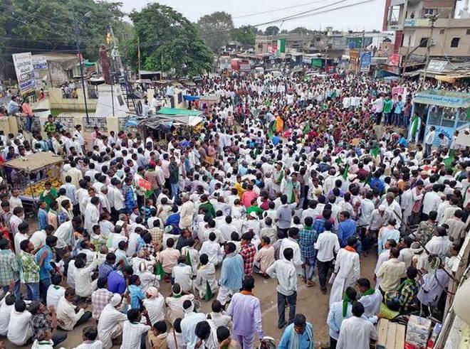 Lambadas in Telangana demand 12 per cent reservation for ST