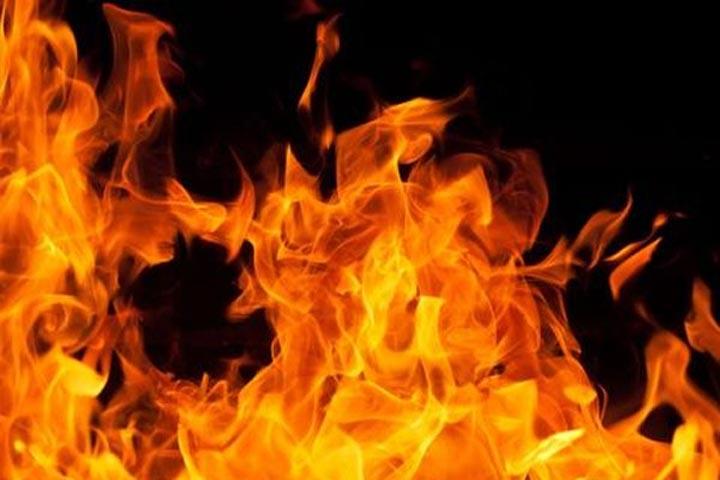 Fire mishap at glass warehouse at Chaderghat