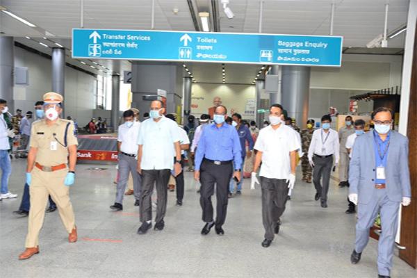 CS Somesh Kumar visits Shamshabad Airport