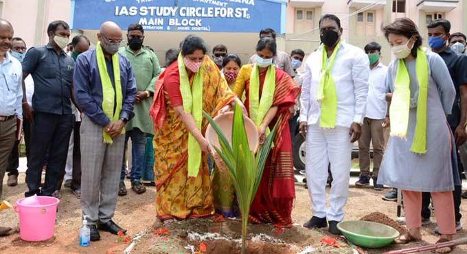 Telangana ST Welfare Dept plants 4.6 lakh saplings under Haritha Haram programme