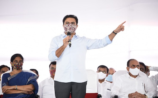 KTR convenes a meeting with GHMC Corporators, MLAs and elected public representatives yesterday