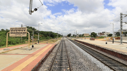 Newly doubled line between Shadnagar-Gollapalli rail line completed