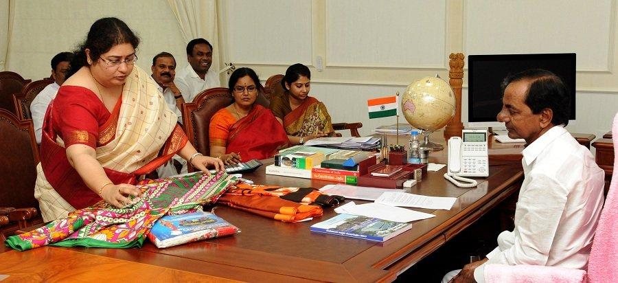 Telangana govt to distribute sarees for Bathukamma festival