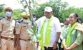 chiefsecretarysomeshkumarplantssaplingsatkbrpark