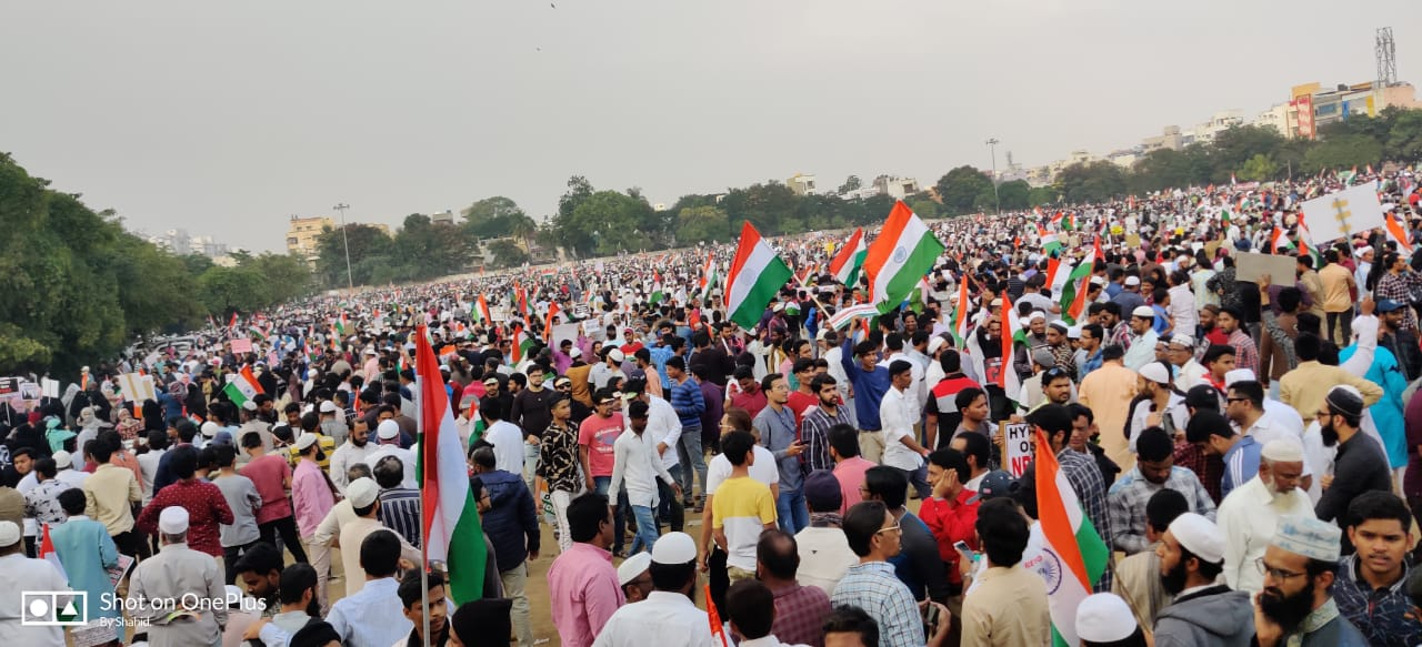 successfulmillionmarchpeacefulprotestsagainstnrcnprcabinhyderabad
