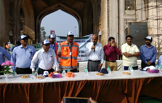 MoU sign between NTPC and GHMC for developmental works at Charminar
