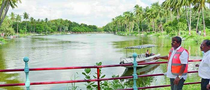 Indira park pond works completed