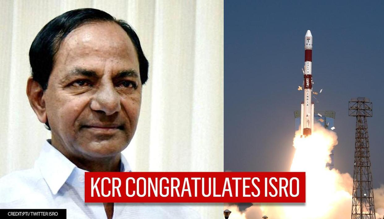 CM KCR congratulates ISRO on successful launch of PSLV-C51