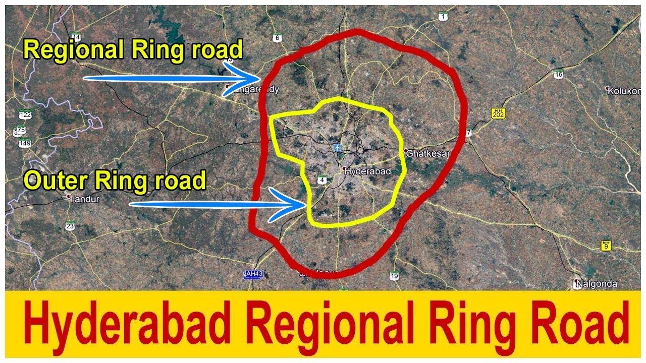 Telangana government plans to lay 360-km long train track along RRR